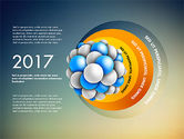 Presentation Template with Molecule Shape#9