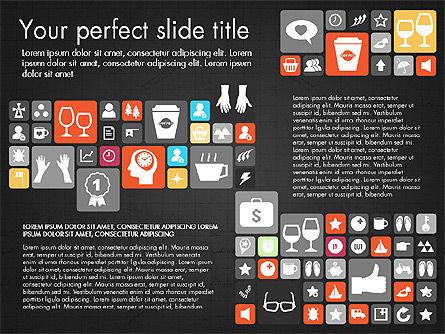 Flat Design Icons Presentation Deck, Slide 10, 03028, Icons — PoweredTemplate.com