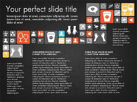 Flat Design Icons Presentation Deck, Slide 11, 03028, Icons — PoweredTemplate.com
