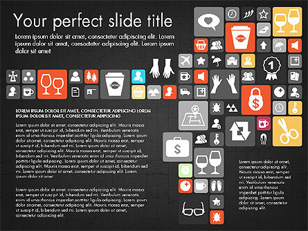 Flat Design Icons Presentation Deck, Slide 12, 03028, Icons — PoweredTemplate.com