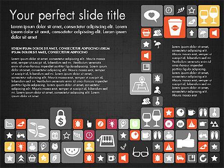 Flat Design Icons Presentation Deck, Slide 13, 03028, Icons — PoweredTemplate.com
