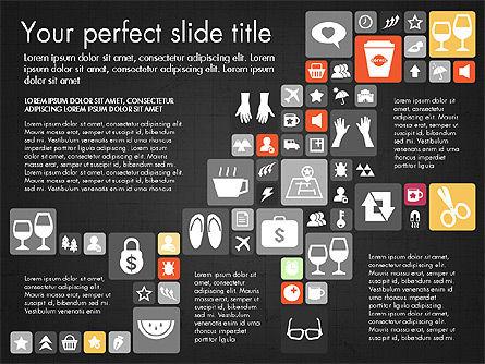Flat Design Icons Presentation Deck, Slide 15, 03028, Icons — PoweredTemplate.com