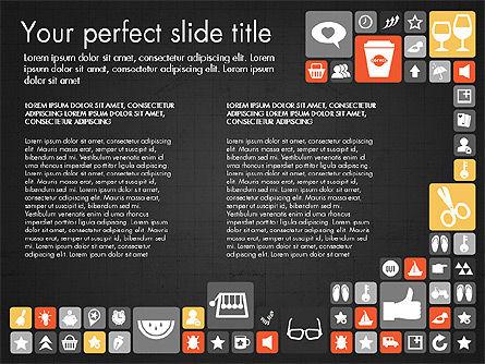 Flat Design Icons Presentation Deck, Slide 16, 03028, Icons — PoweredTemplate.com