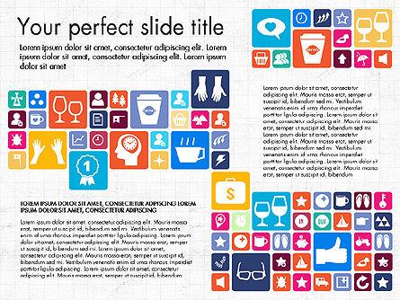 Flat Design Icons Presentation Deck, Slide 2, 03028, Icons — PoweredTemplate.com