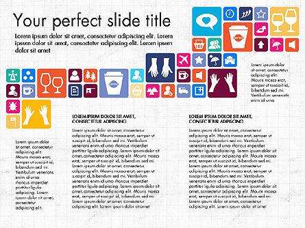 Flat Design Icons Presentation Deck, Slide 3, 03028, Icons — PoweredTemplate.com