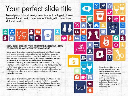 Flat Design Icons Presentation Deck, Slide 4, 03028, Icons — PoweredTemplate.com