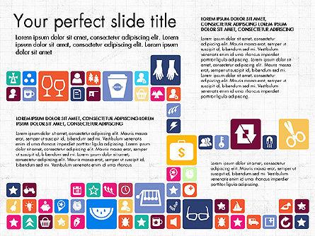 Flat Design Icons Presentation Deck, Slide 6, 03028, Icons — PoweredTemplate.com