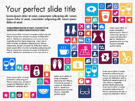 Flat Design Icons Presentation Deck, Slide 7, 03028, Icons — PoweredTemplate.com