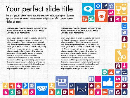 Flat Design Icons Presentation Deck, Slide 8, 03028, Icons — PoweredTemplate.com