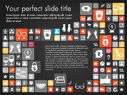 Flat Design Icons Presentation Deck, Slide 9, 03028, Icons — PoweredTemplate.com