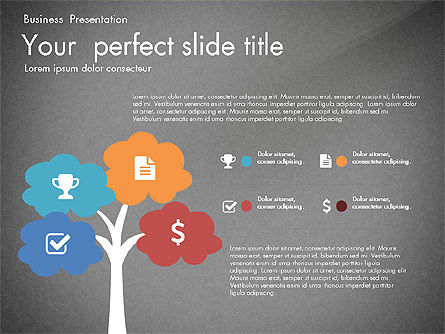 Business Presentation with Silhouettes and Shapes, Slide 15, 03029, Presentation Templates — PoweredTemplate.com