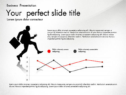 Business Presentation with Silhouettes and Shapes, Slide 4, 03029, Presentation Templates — PoweredTemplate.com