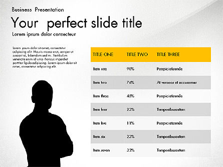 Business Presentation with Silhouettes and Shapes, Slide 6, 03029, Presentation Templates — PoweredTemplate.com