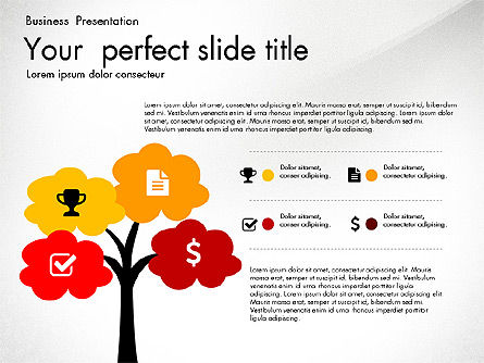 Business Presentation with Silhouettes and Shapes, Slide 7, 03029, Presentation Templates — PoweredTemplate.com