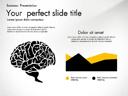 Business Presentation with Silhouettes and Shapes, Slide 8, 03029, Presentation Templates — PoweredTemplate.com