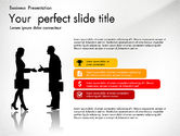 Presentation Templates: Business Presentation with Silhouettes and Shapes #03029