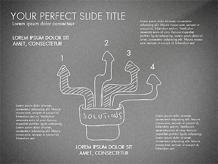 Sketch Style Business Presentation, Slide 10, 03030, Flow Charts — PoweredTemplate.com