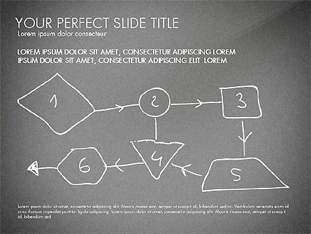 Sketch Style Business Presentation, Slide 12, 03030, Flow Charts — PoweredTemplate.com