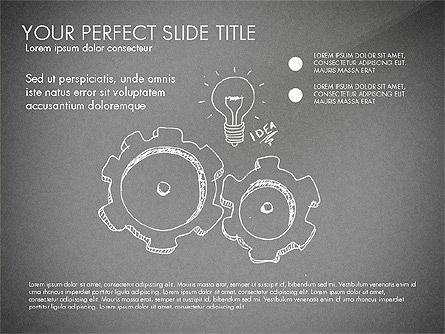 Sketch Style Business Presentation, Slide 15, 03030, Flow Charts — PoweredTemplate.com
