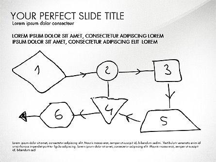 Sketch Style Business Presentation, Slide 4, 03030, Flow Charts — PoweredTemplate.com