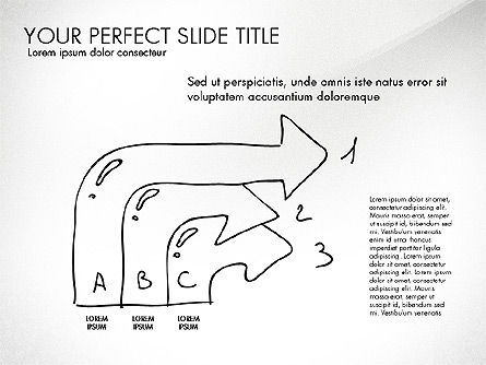 Sketch Style Business Presentation, Slide 5, 03030, Flow Charts — PoweredTemplate.com