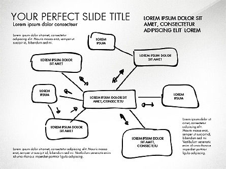Sketch Style Business Presentation, Slide 6, 03030, Flow Charts — PoweredTemplate.com
