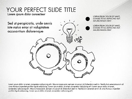 Sketch Style Business Presentation, Slide 7, 03030, Flow Charts — PoweredTemplate.com