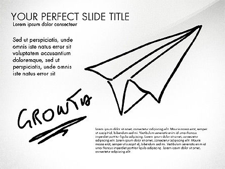 Sketch Style Business Presentation, Slide 8, 03030, Flow Charts — PoweredTemplate.com