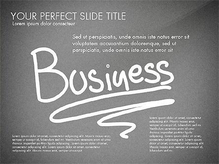 Sketch Style Business Presentation, Slide 9, 03030, Flow Charts — PoweredTemplate.com