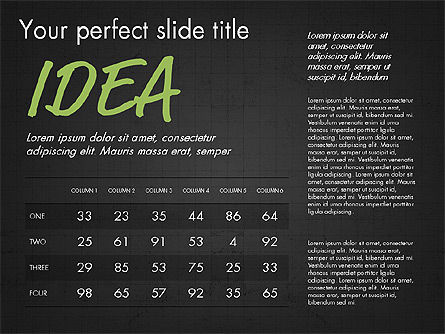 Idea Presentation Concept Template, Slide 13, 03032, Presentation Templates — PoweredTemplate.com