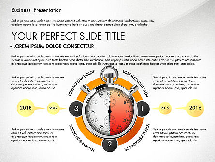 Process Diagrams: Time Management Process Presentation Concept #03033