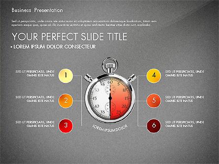 Time Management Process Presentation Concept, Slide 12, 03033, Process Diagrams — PoweredTemplate.com