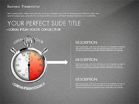Time Management Process Presentation Concept, Slide 13, 03033, Process Diagrams — PoweredTemplate.com
