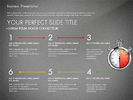 Time Management Process Presentation Concept, Slide 15, 03033, Process Diagrams — PoweredTemplate.com