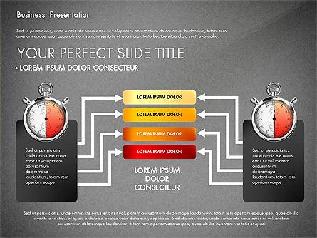 Time Management Process Presentation Concept, Slide 16, 03033, Process Diagrams — PoweredTemplate.com