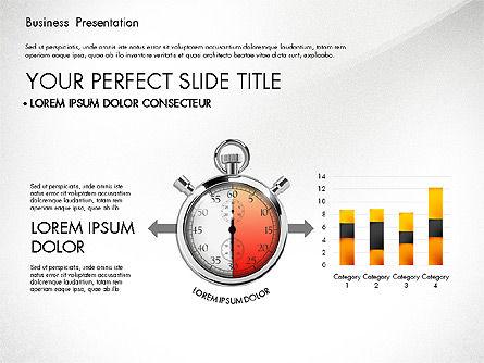 Time Management Process Presentation Concept, Slide 3, 03033, Process Diagrams — PoweredTemplate.com