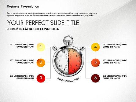 Time Management Process Presentation Concept, Slide 4, 03033, Process Diagrams — PoweredTemplate.com