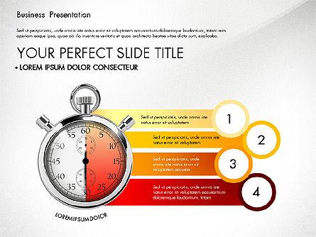 Time Management Process Presentation Concept, Slide 6, 03033, Process Diagrams — PoweredTemplate.com