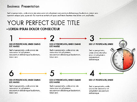 Time Management Process Presentation Concept, Slide 7, 03033, Process Diagrams — PoweredTemplate.com
