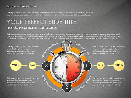 Time Management Process Presentation Concept, Slide 9, 03033, Process Diagrams — PoweredTemplate.com