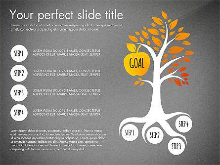 Reaching the Goal Concept, Slide 12, 03034, Business Models — PoweredTemplate.com