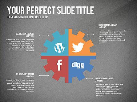 Social Related Presentation Template, Slide 13, 03035, Presentation Templates — PoweredTemplate.com