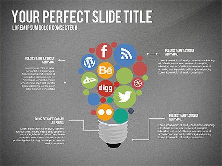 Social Related Presentation Template, Slide 14, 03035, Presentation Templates — PoweredTemplate.com