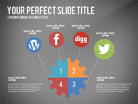 Social Related Presentation Template, Slide 15, 03035, Presentation Templates — PoweredTemplate.com