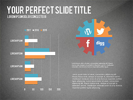 Social Related Presentation Template, Slide 16, 03035, Presentation Templates — PoweredTemplate.com