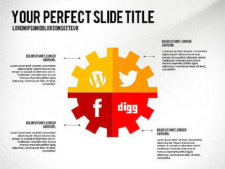 Social Related Presentation Template, Slide 5, 03035, Presentation Templates — PoweredTemplate.com