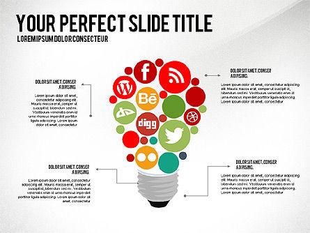 Social Related Presentation Template, Slide 6, 03035, Presentation Templates — PoweredTemplate.com