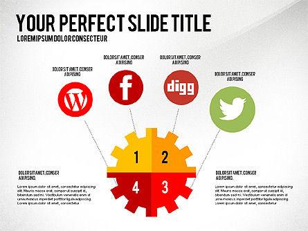 Social Related Presentation Template, Slide 7, 03035, Presentation Templates — PoweredTemplate.com