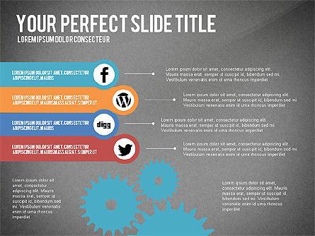 Social Related Presentation Template, Slide 9, 03035, Presentation Templates — PoweredTemplate.com