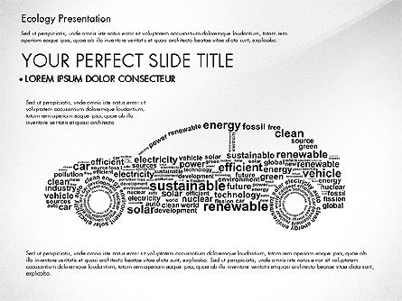 Presentation Templates: Renewable Energy Word Cloud Presentation Template #03037